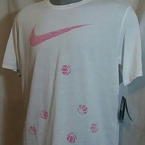 NWT Nike Dri-Fit Tee Basketball Print Swoosh
